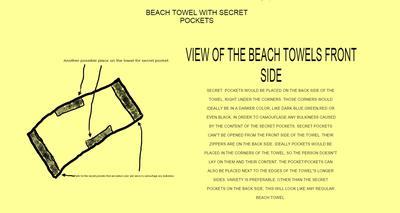 Beach Towel With Secret Pockets
