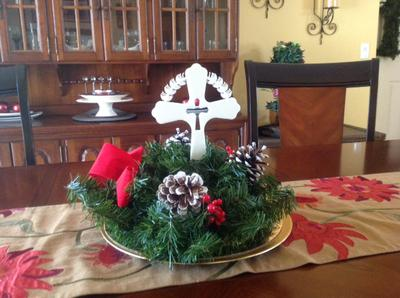 ChristWreath Cross Centerpiece