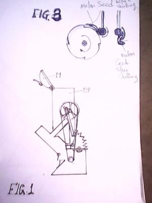 Melon Seed Shelling Machine Sketch