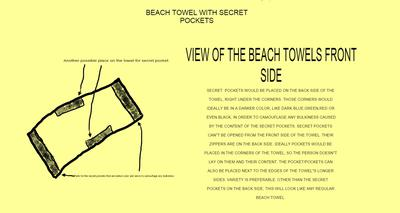 Beach Towel With Secret Pockets