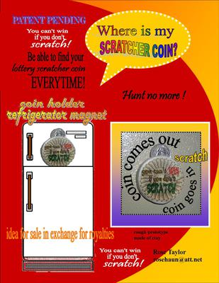 Magnetic Lottery Scratch Off Coin